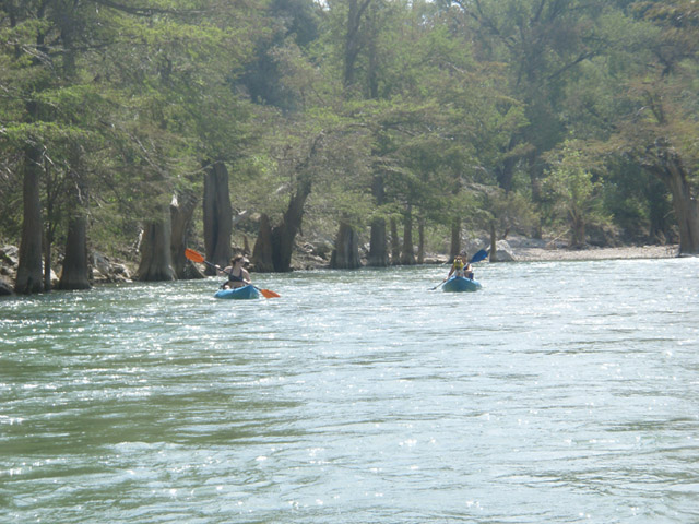 Kayaking in Boerne, Texas