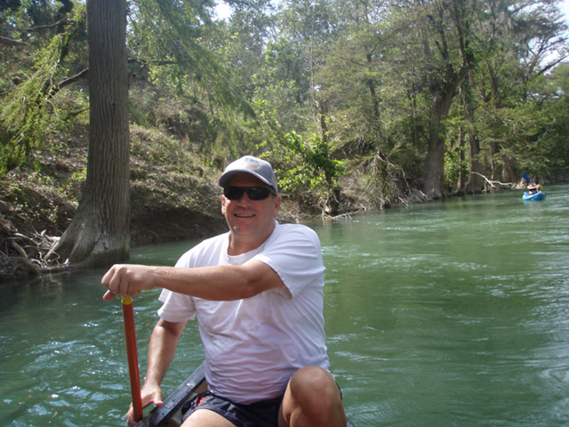 Kayaking in Boerne on the river